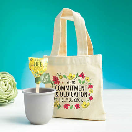 Petite Planter & Tote Set - Commitment & Dedication