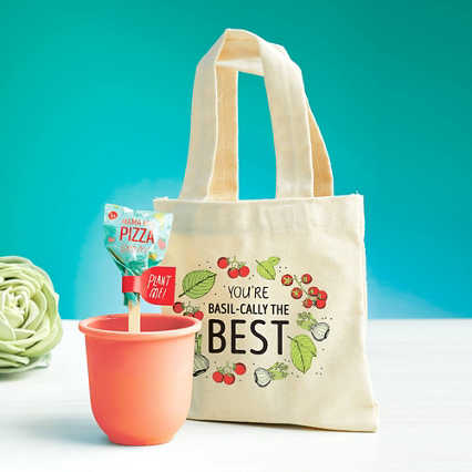 Petite Planter & Tote Set - Basil-cally The Best