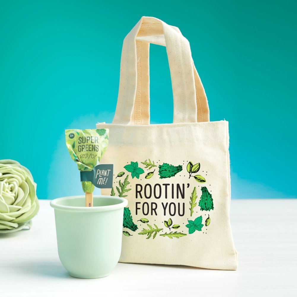 View larger image of Petite Planter & Tote Set - Rootin' For You