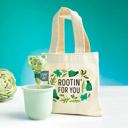 Petite Planter & Tote Set - Rootin' For You
