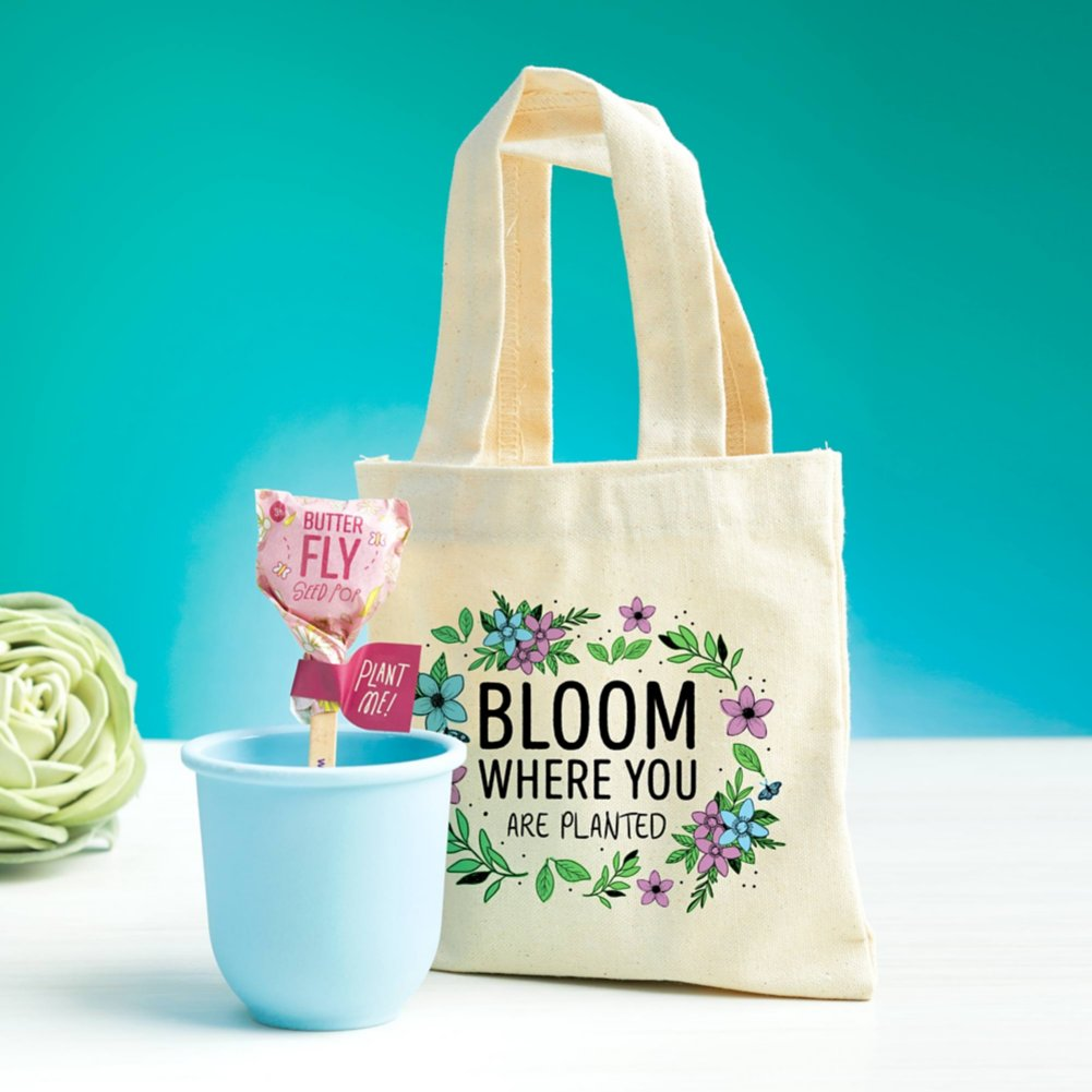 View larger image of Petite Planter & Tote Set - Bloom Where You are Planted