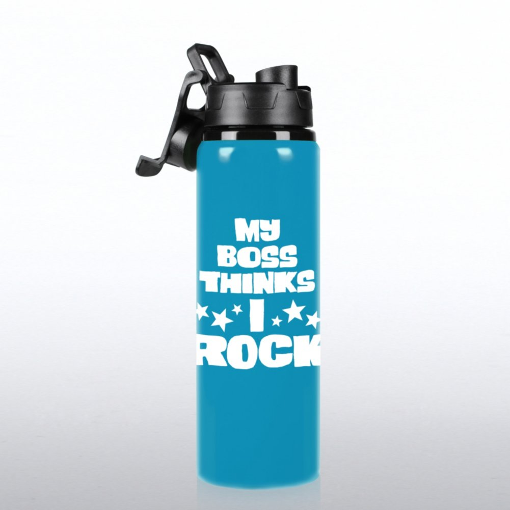 View larger image of Neon Water Bottle - My Boss Thinks I Rock