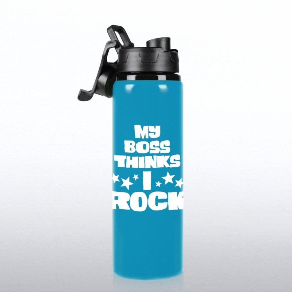 Neon Water Bottle - My Boss Thinks I Rock