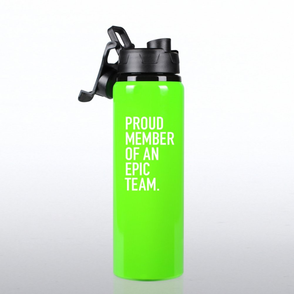 View larger image of Neon Water Bottle -  Proud Member of an Epic Team