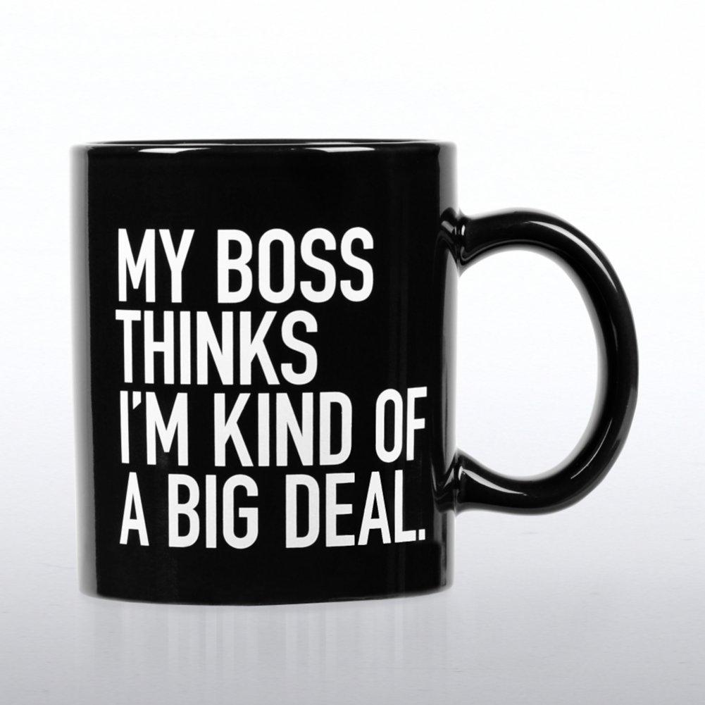 Jumbo Ceramic Coffee Mug - My Boss Thinks I'm a Big Deal
