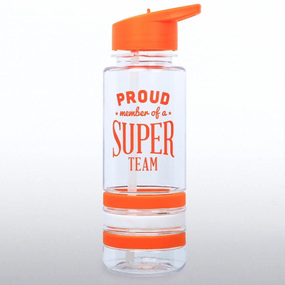 Color Band Flip Top Water Bottle - Proud Member..Super Team