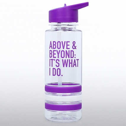 Color Band Flip Top Water Bottle -  Above & Beyond