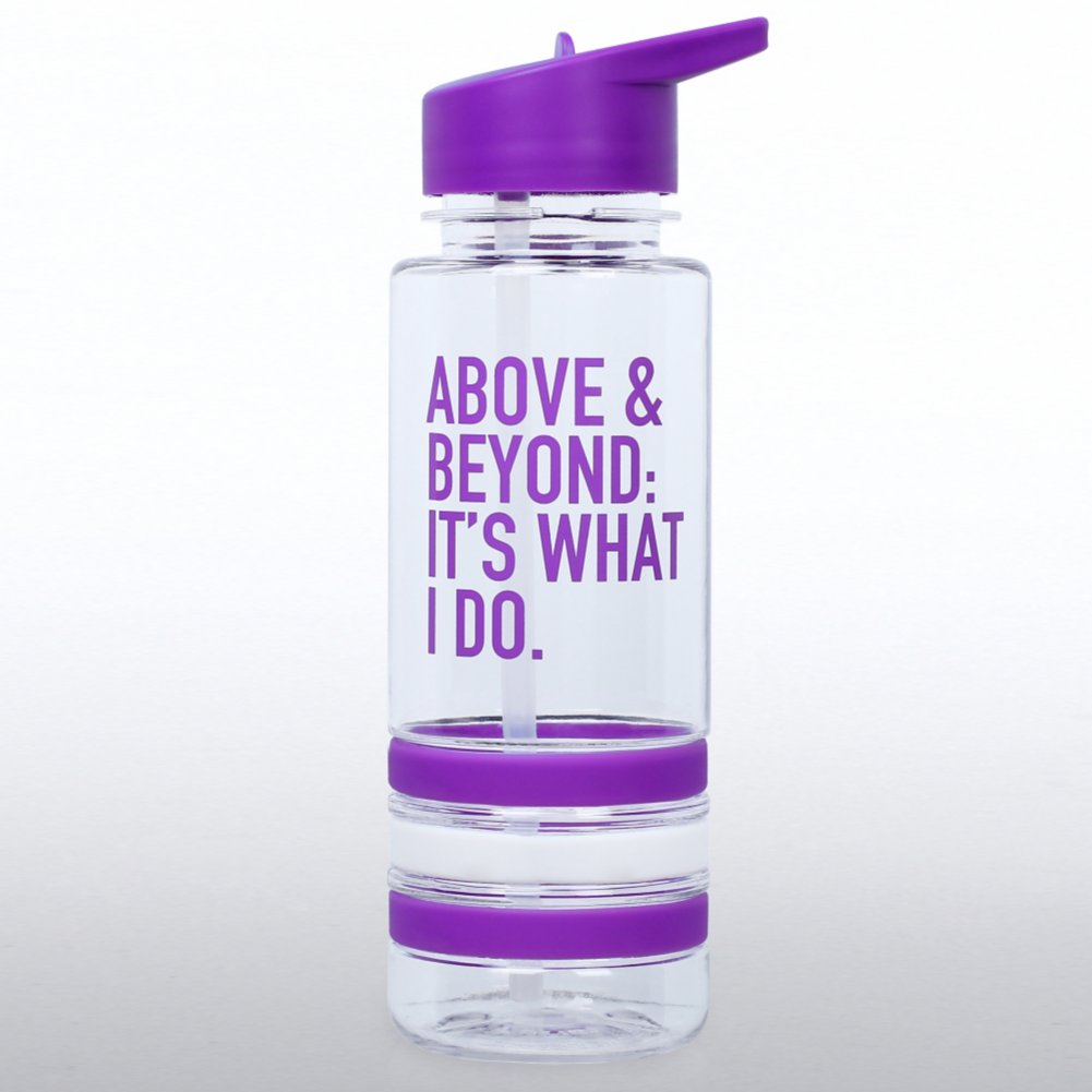 View larger image of Color Band Flip Top Water Bottle -  Above & Beyond