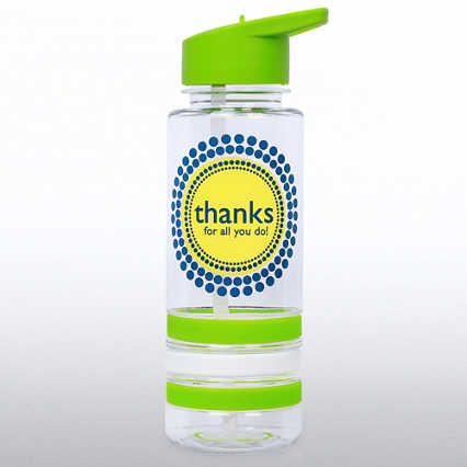 Color Band Flip Top Water Bottle - Thanks For All You Do
