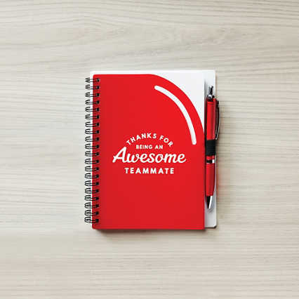 Color Pop Value Journal & Pen - Thanks: Awesome Teammate