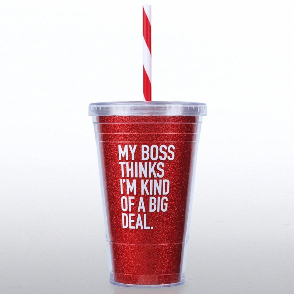 Glitter Tumbler: My Boss Thinks I'm a Big Deal