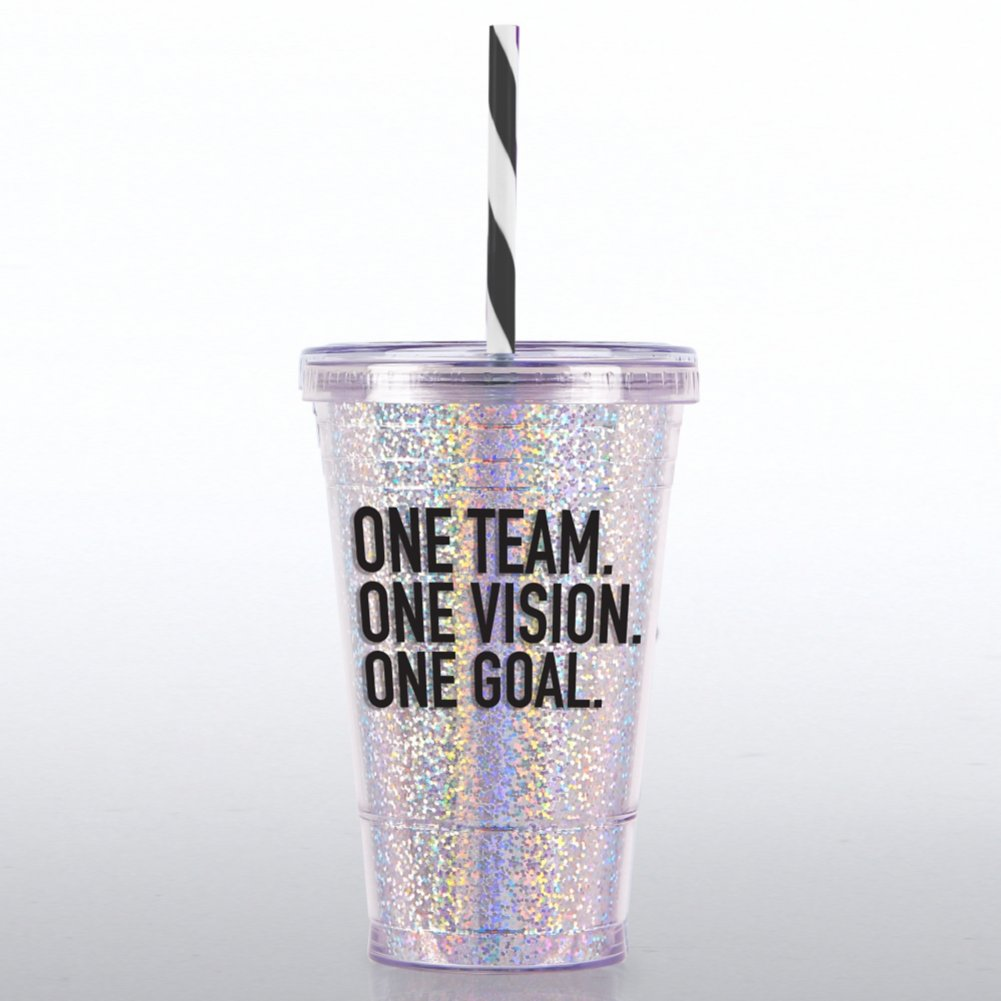 Glitter Tumbler: One Team One Vision One Goal