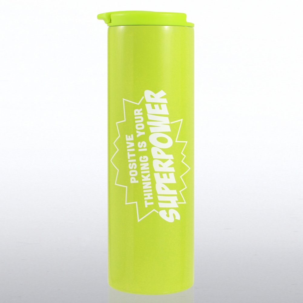 View larger image of Color Pop Stainless Travel Mug - Positive Thinking...