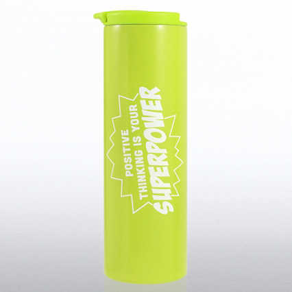 Color Pop Stainless Travel Mug - Positive Thinking...