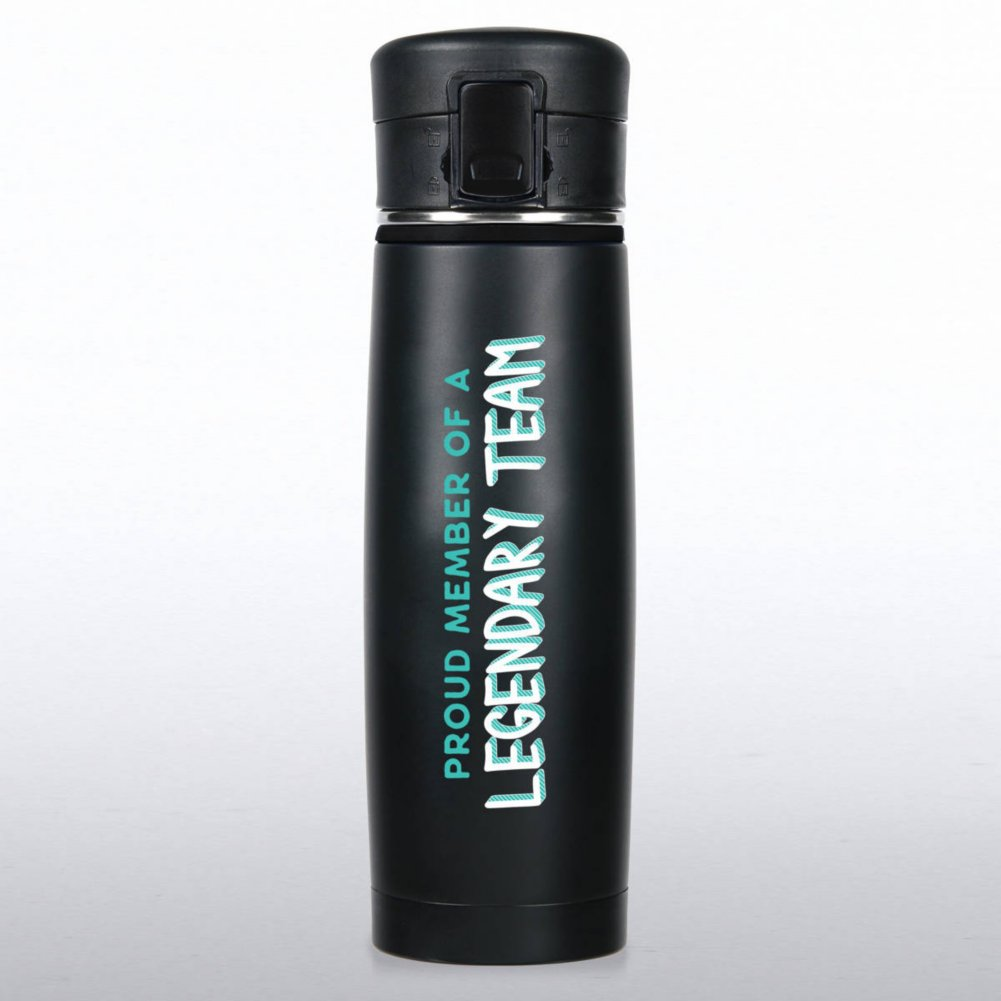 View larger image of Matte Black Stainless Steel Travel Mug - Legendary Team