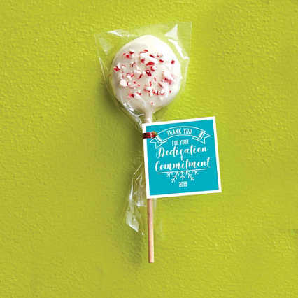 Hand-Dipped Cookie Dough Pop - Peppermint