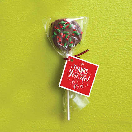 Hand-Dipped Cookie Dough Pop - Holiday Sprinkles