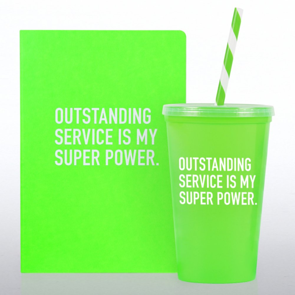 View larger image of Neon Gift Set - Outstanding Service is my Super Power