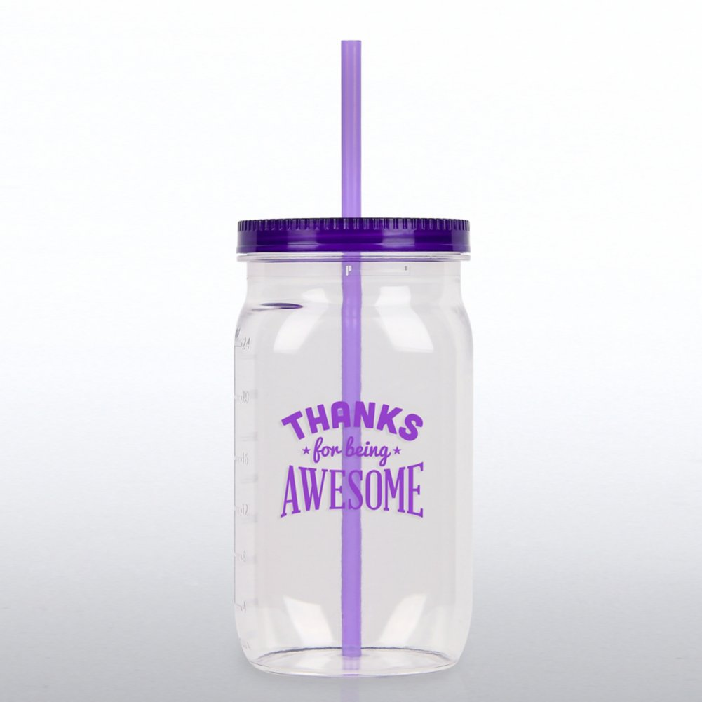 View larger image of Value Mason Jar Tumbler - Thanks for Being Awesome
