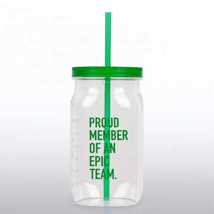 Value Mason Jar Tumbler - Proud Member of an Epic Team