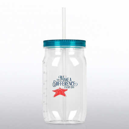 Value Mason Jar Tumbler - Starfish: Making a Difference