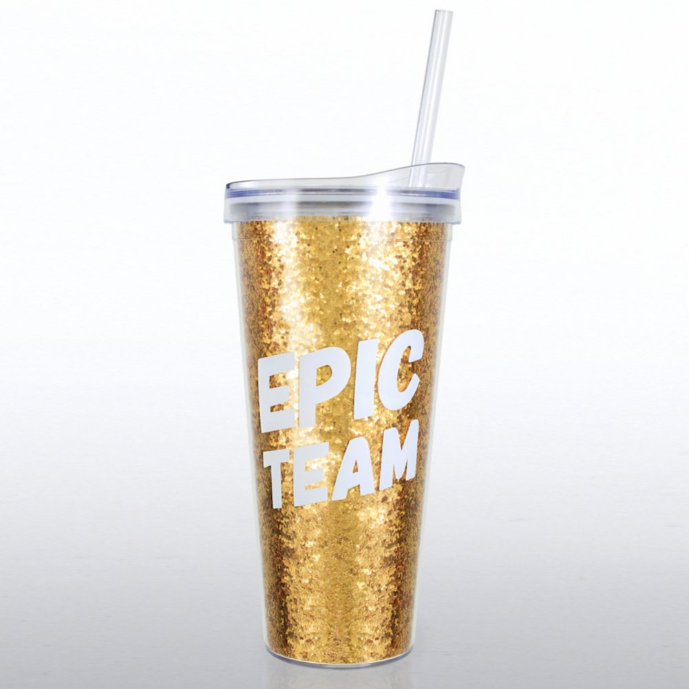 View larger image of Confetti Tumbler - Epic Team - Glitter Version