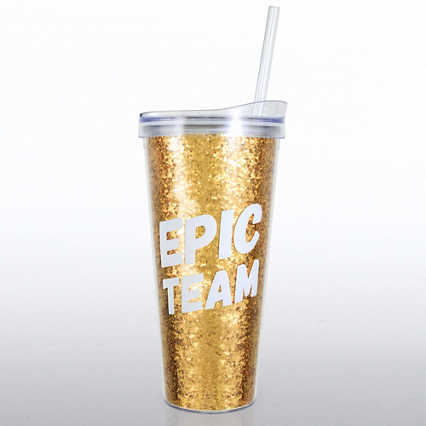 Confetti Tumbler - Epic Team - Glitter Version