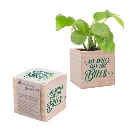 Appreciation Plant Cube - My Skills Pay The Bills