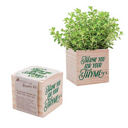 Appreciation Plant Cube - Thank You for Your Thyme