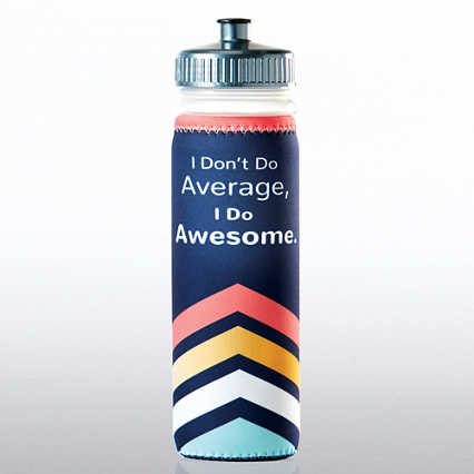Full O' Color Value Water Bottle - I Don't Do Average