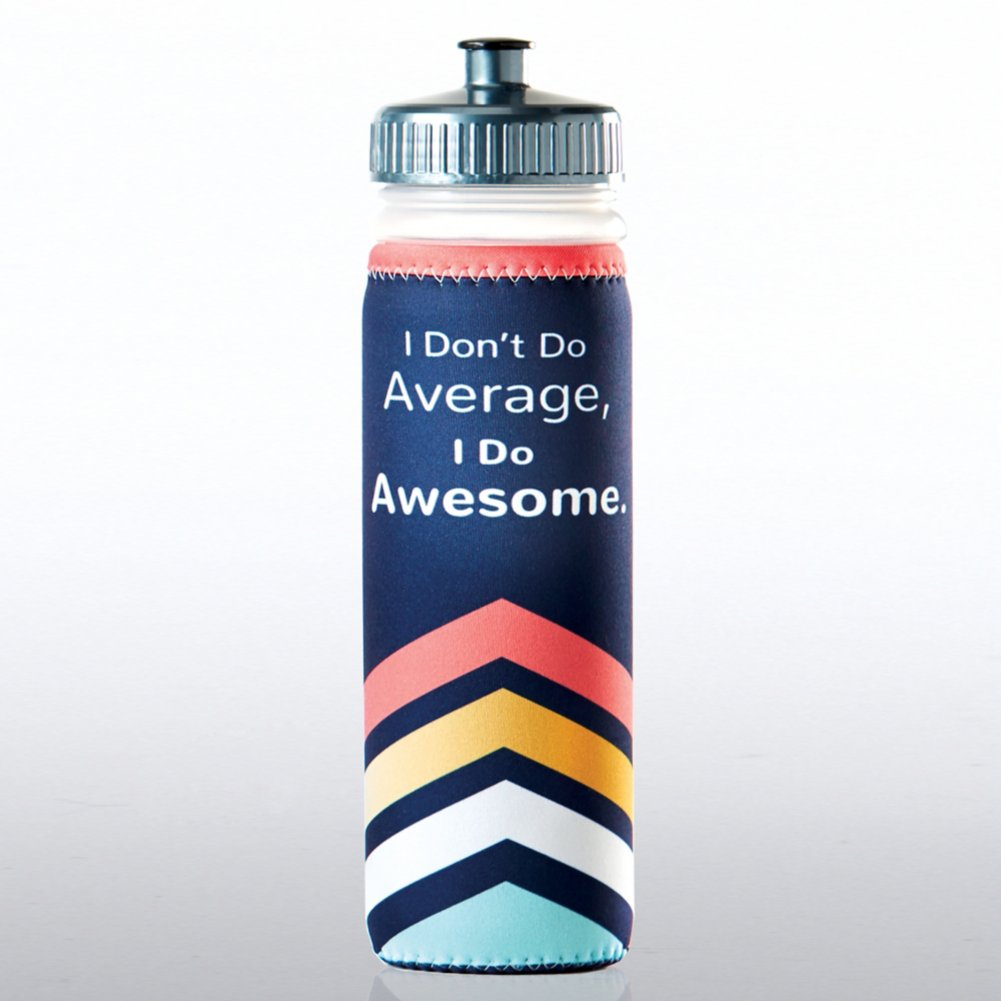 View larger image of Full O' Color Value Water Bottle - I Don't Do Average