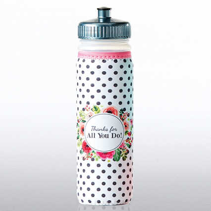 Full O' Color Value Water Bottle - Thanks For All You Do!