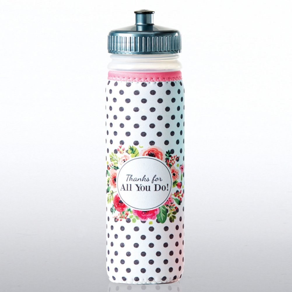 View larger image of Full O' Color Value Water Bottle - Thanks For All You Do!