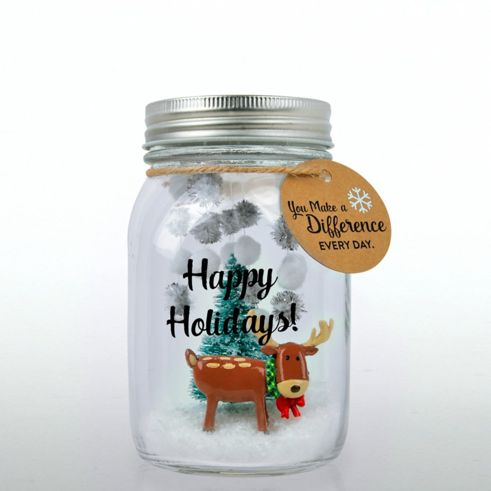 View larger image of 'Tis the Season - Holiday Mason Jar - You Make a Difference