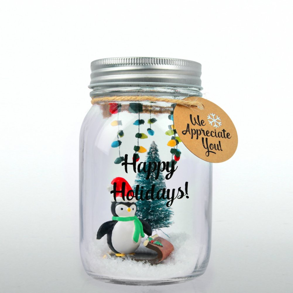 View larger image of 'Tis the Season - Holiday Mason Jar - We Appreciate You