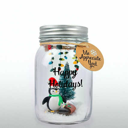 'Tis the Season - Holiday Mason Jar - We Appreciate You