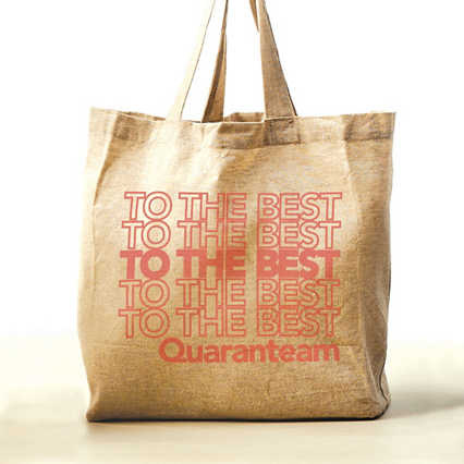 Feel Good Recycled Tote - Quaranteam