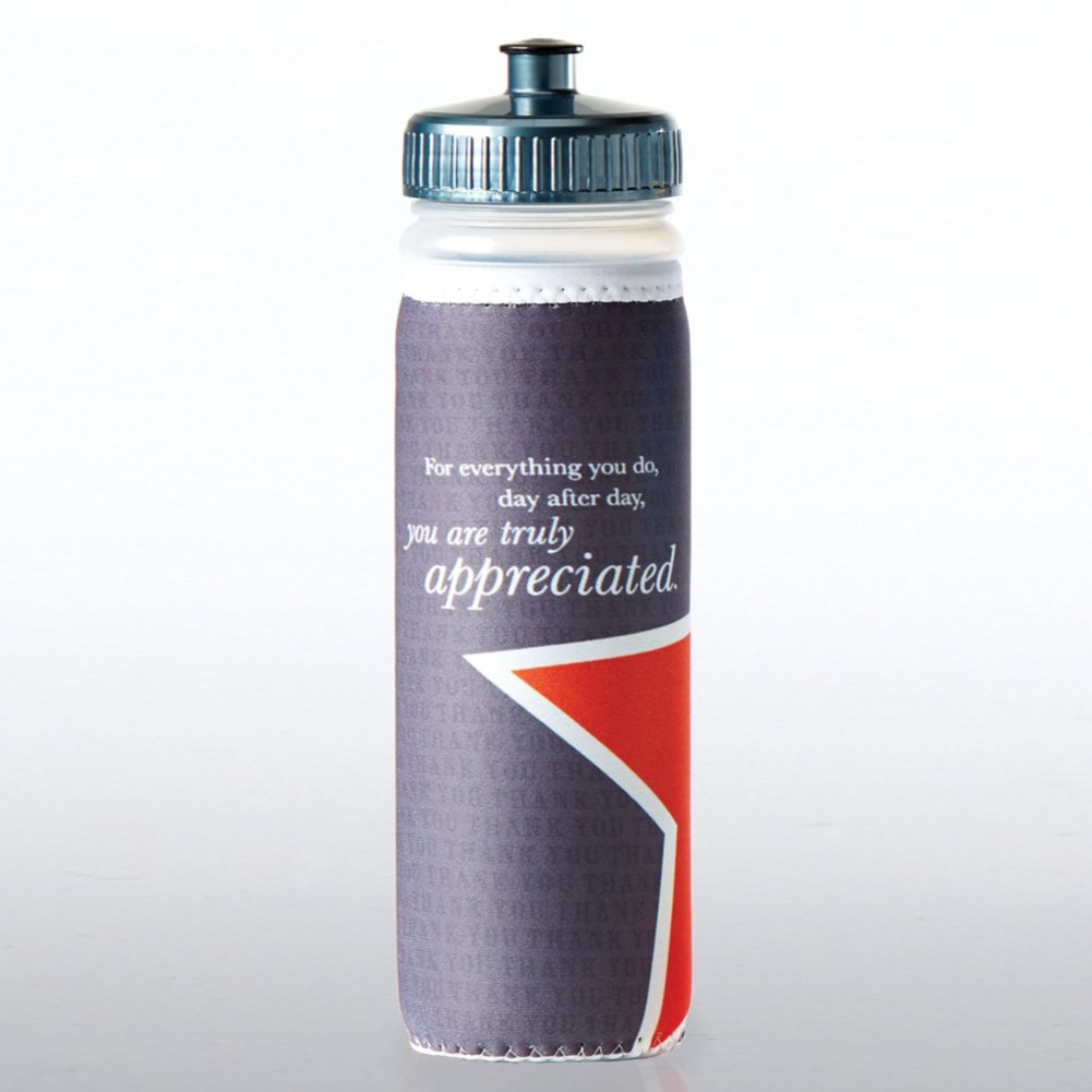 View larger image of Full O' Color Value Water Bottle - You Are Truly Appreciated