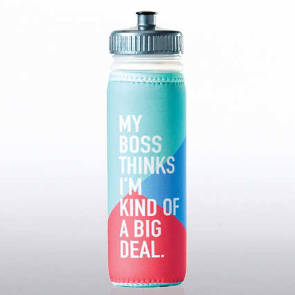 Full O' Color Value Water Bottle - My Boss Thinks...
