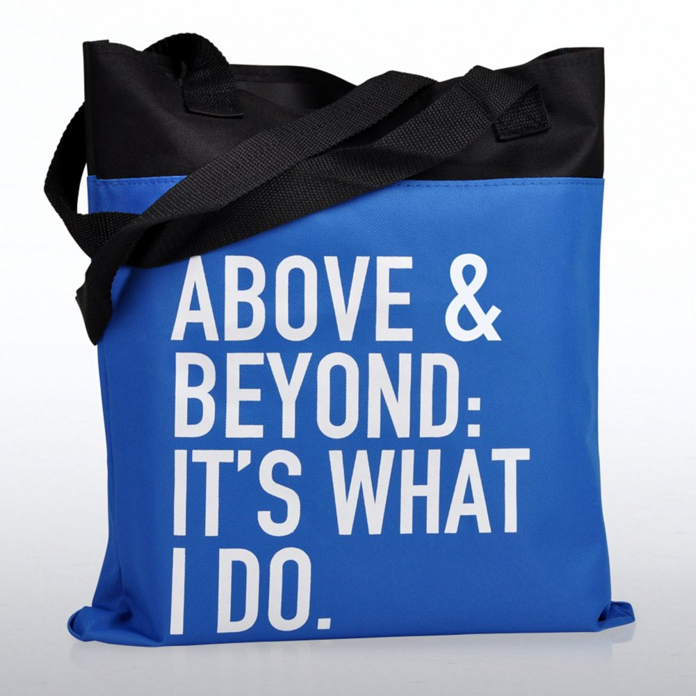 View larger image of Value Canvas Tote Bag - Above and Beyond: It's What I Do