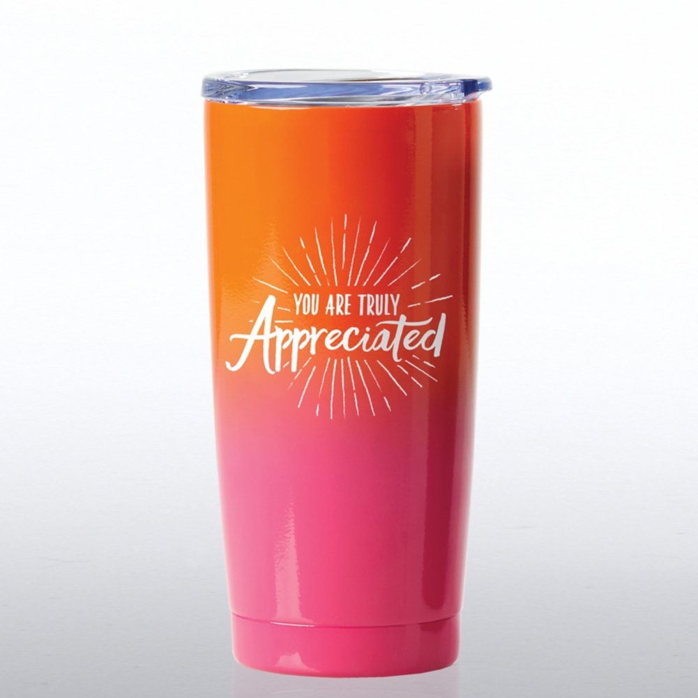 View larger image of Ombre Stainless Steel Travel Mug - You Are Truly Appreciated