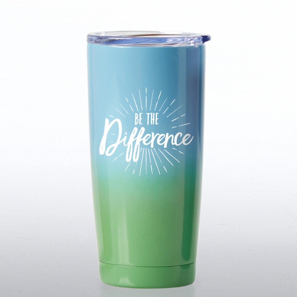 View larger image of Ombre Stainless Steel Travel Mug - Be The Difference