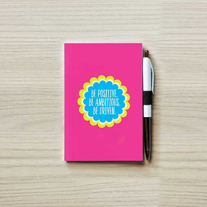 Colorific Value Journal & Pen Set- Positive Ambitious Driven