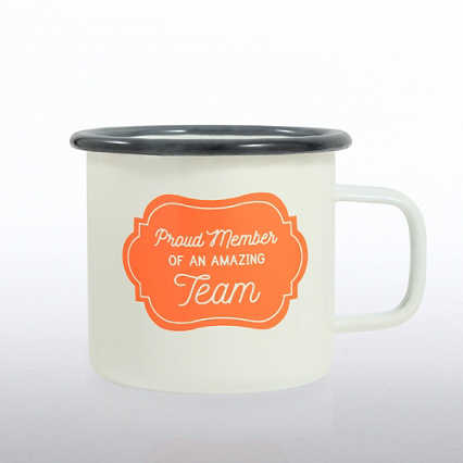 Classic Enamel Campfire Mug -Proud Member Of An Amazing Team