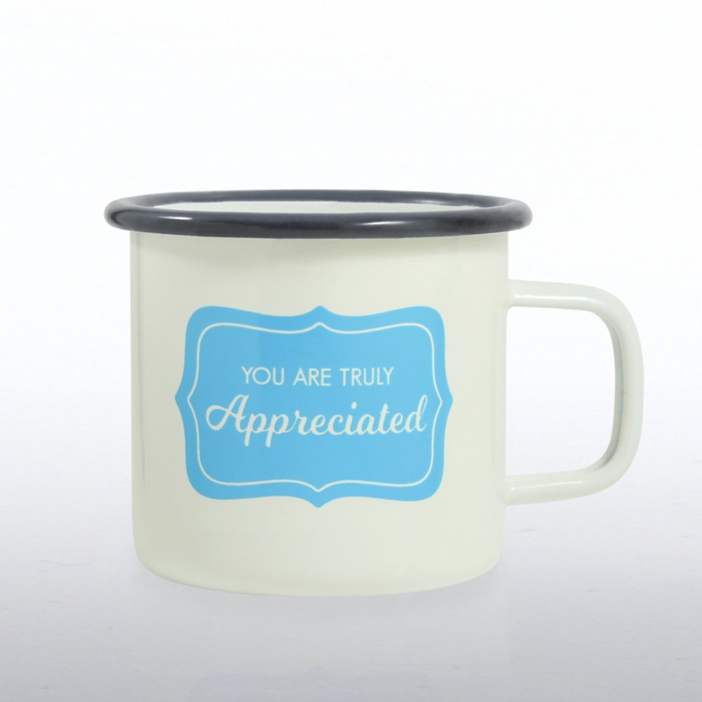 View larger image of Classic Enamel Campfire Mug - You Are Truly Appreciated