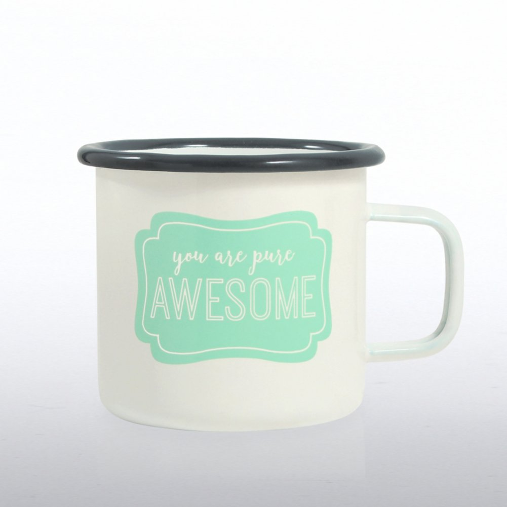 View larger image of Classic Enamel Campfire Mug - You Are Pure Awesome