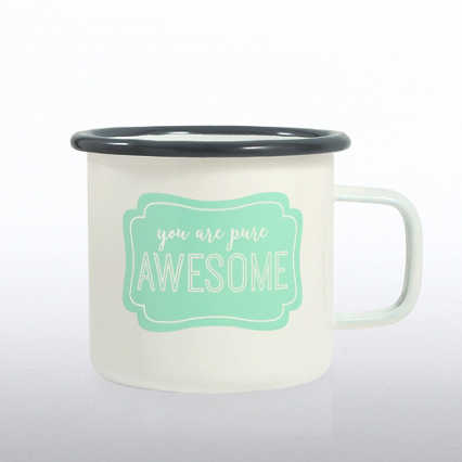 Classic Enamel Campfire Mug - You Are Pure Awesome