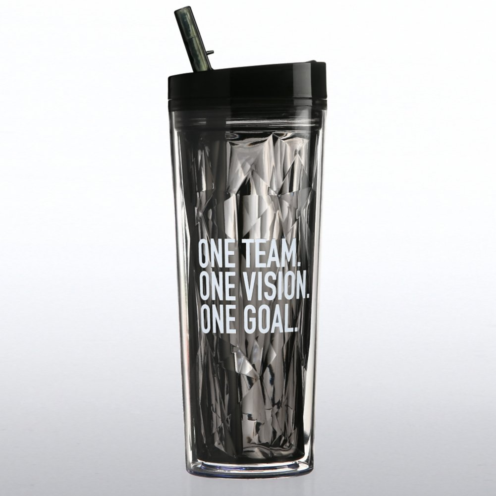 Vibrant Prism Tumbler - One Team, One Vision, One Goal