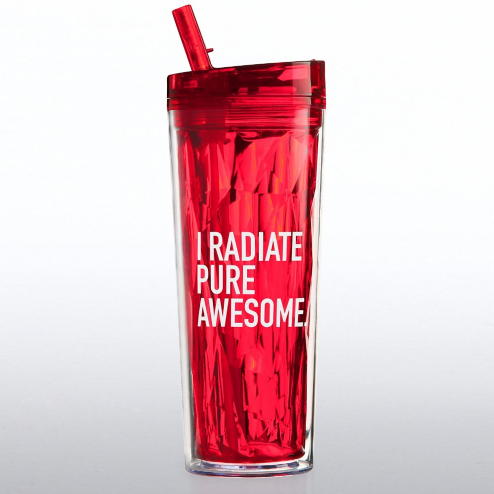 Vibrant Prism Tumbler - I Radiate Pure Awesome