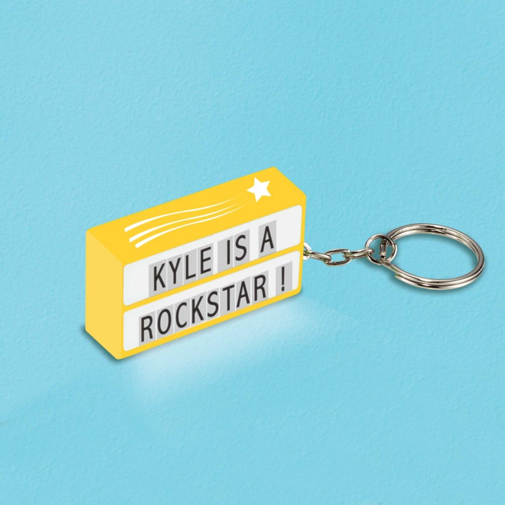 View larger image of Value Light Box Keychain - Shooting Star - Yellow